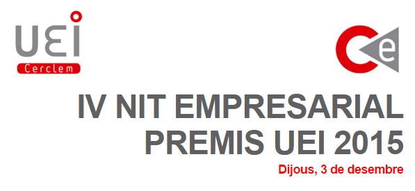 IV Nit empresarial premios UEI 2015