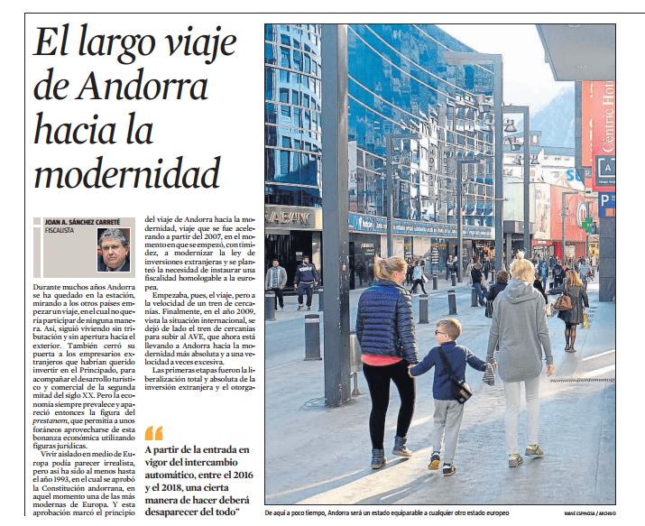 El largo viaje de Andorra hacia la modernidad