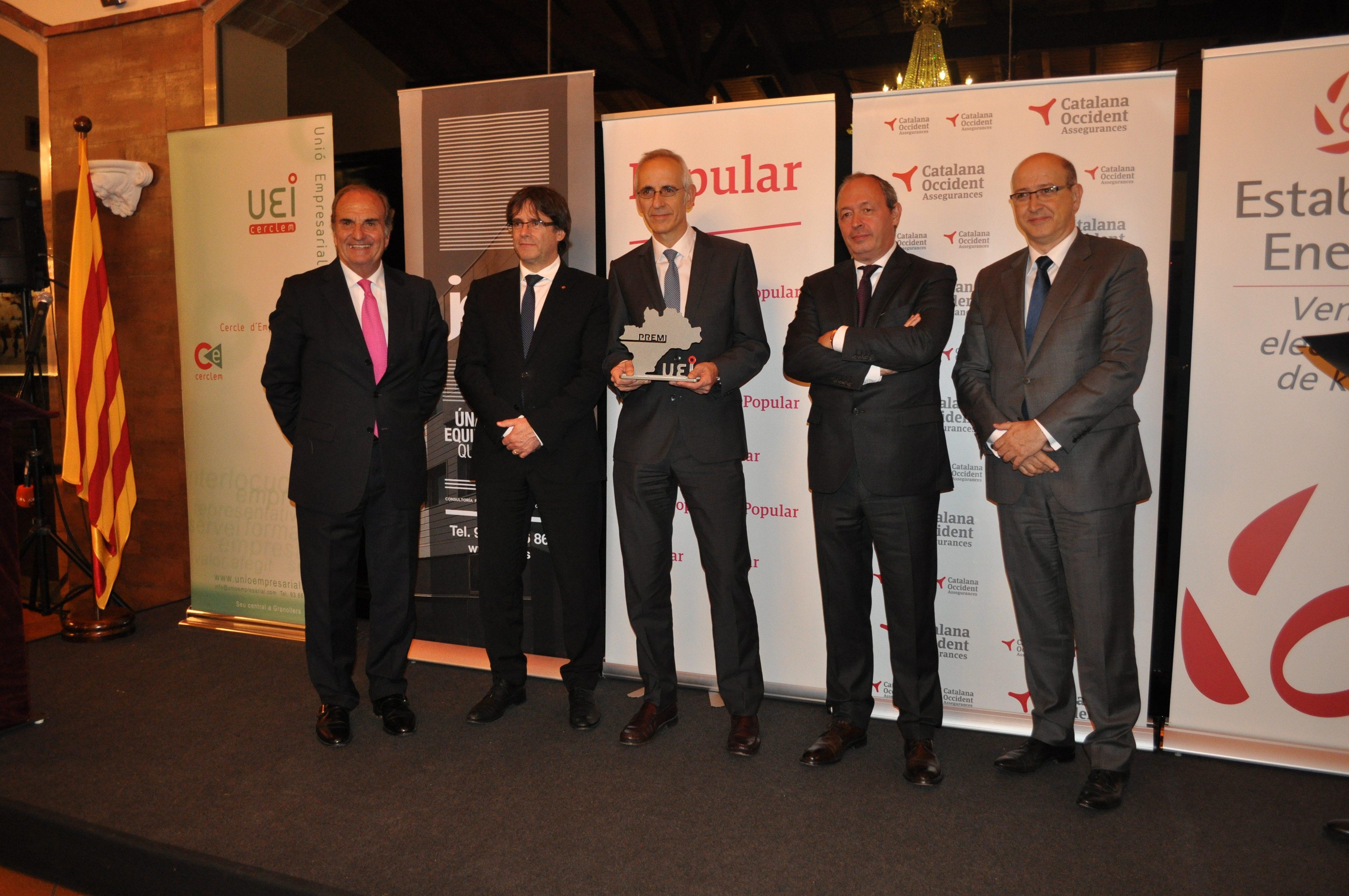 JDA premiada en la V Noche Empresarial de la Unión de Empresarios del Vallés Oriental