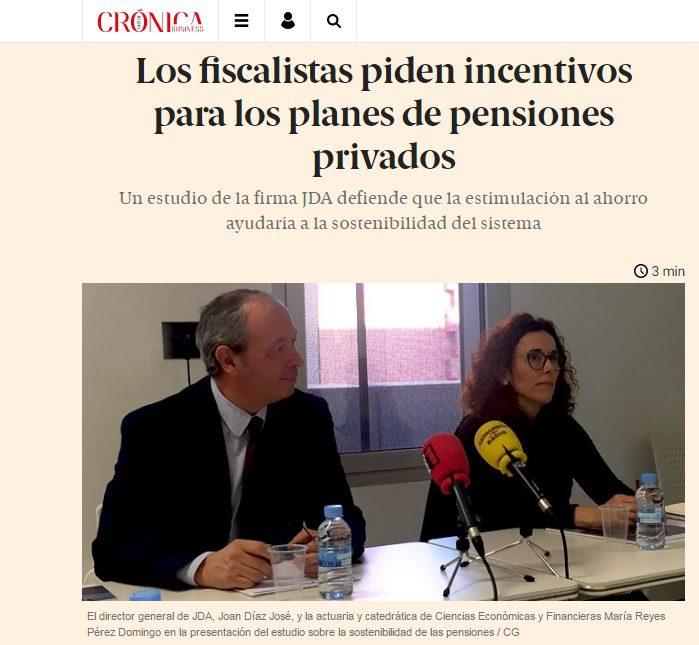 El estudio sobre pensiones de JDA/SFAI en los medios de comunicación