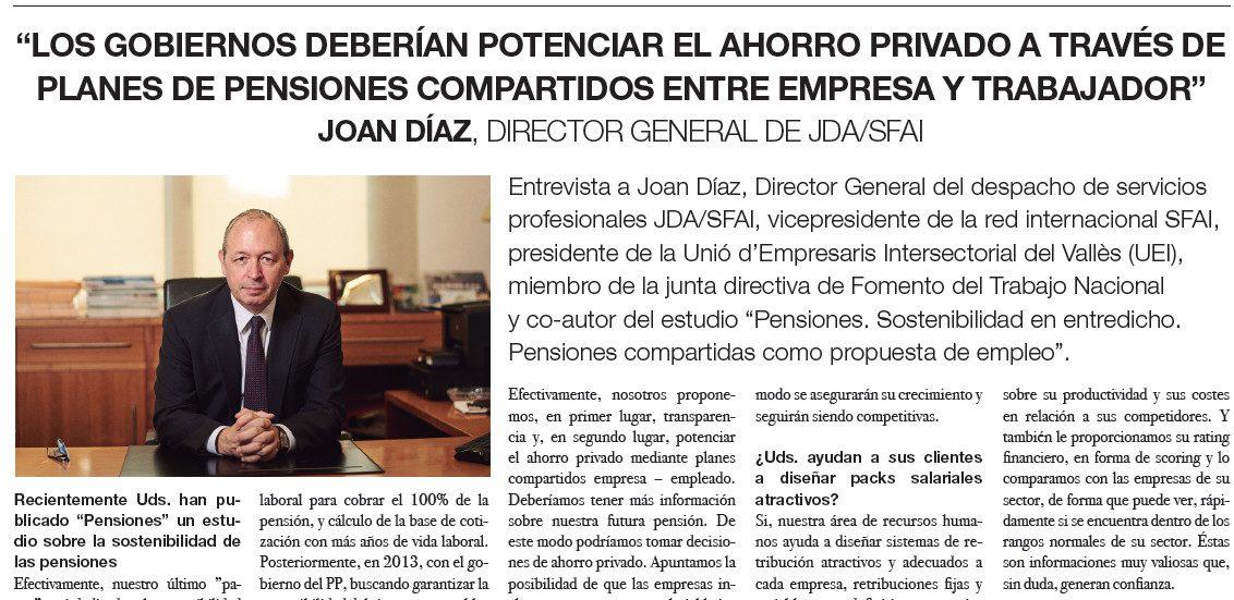 Entrevista a Joan Díaz en Expansión