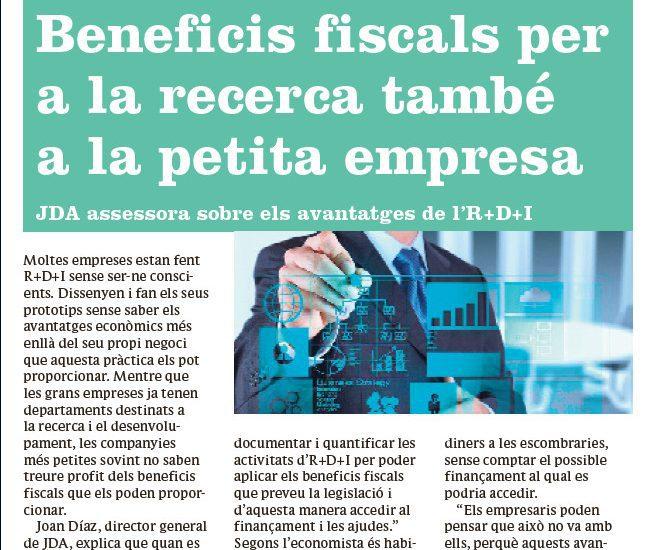 Beneficios fiscales para la investigación en la pequeña empresa
